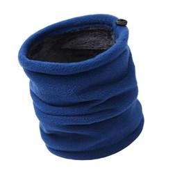 Меховой бафф темно-синий - фото 4881