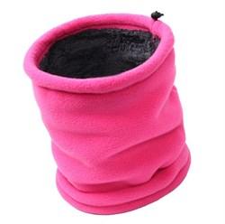 Меховой бафф розовый - фото 4890