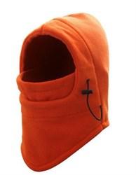 Оранжевая флисовая балаклава-трансформер - фото 5272