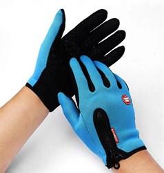 Голубые перчатки - фото 5471