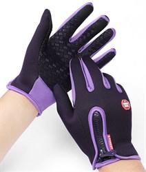 Фиолетовые перчатки - фото 5475
