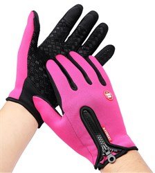 Розовые перчатки - фото 5477