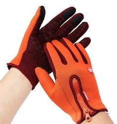 Оранжевые перчатки - фото 5491