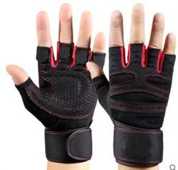 Спортивные перчатки красные - фото 5671