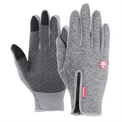 Серые перчатки - фото 5901