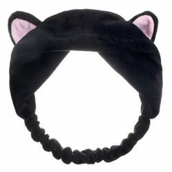 Черная повязка с ушками - фото 6041