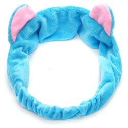 Голубая повязка с ушками - фото 6043