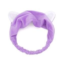 Фиолетовая повязка с ушками - фото 6045