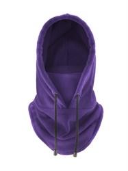 Фиолетовая флисовая балаклава-трансформер - фото 6236