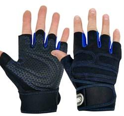 Спортивные перчатки синие - фото 6262