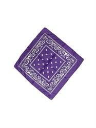 Фиолетовая бандана узор - фото 6357