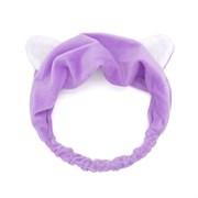 Фиолетовая повязка с ушками