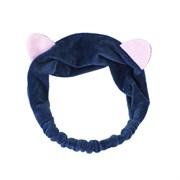 Темно-синяя повязка с ушками