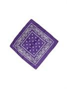 Фиолетовая бандана узор